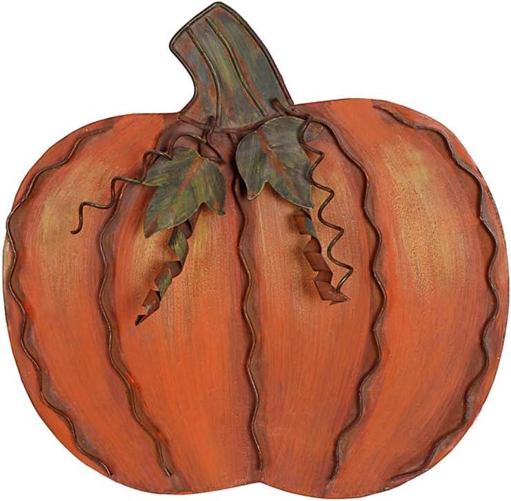 YK Decor Metal Pumpkin Fall Decor Indoor Outdoor Autumn Harvest Halloween Thanksgiving Decor for Home