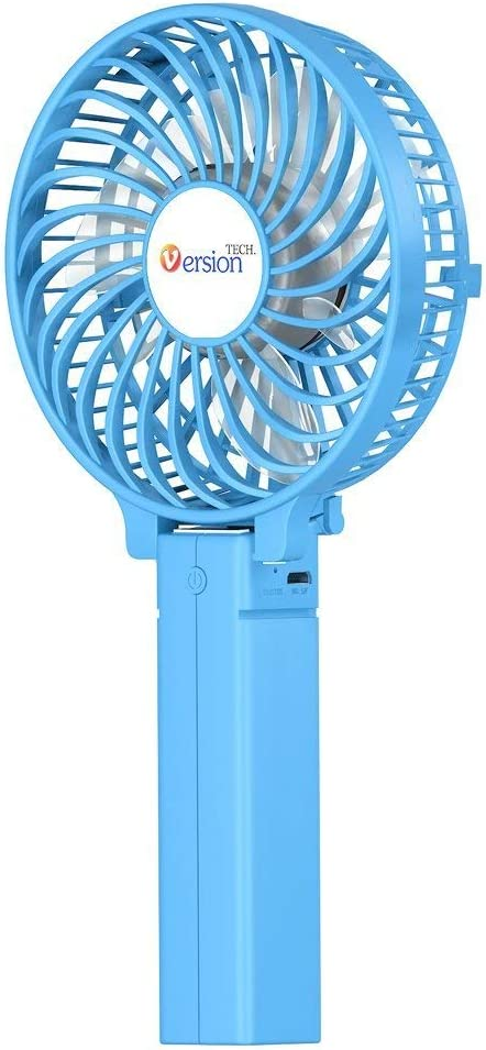 Mini Handheld Fan Versiontech Foldable Personal Portable Desk Desktop Table Cooling Fan With Usb Rechargeable Battery Operated Electric Fan For Office Room Outdoor Household Traveling 3 Speed Blue Amazon Co Uk Kitchen Home