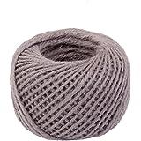 50m Corde de Chanvre Ficelle Cordon pour Emballage Cadeau Artisanat DIY - Gris