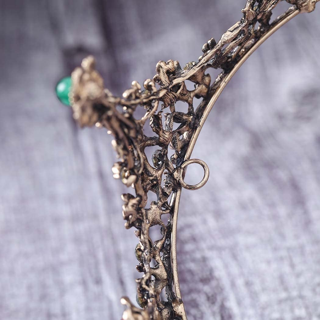 Couronnes de fleurs pour mari/ée Dor/é Tiare de mariage Simsly HG-26 Pour femme Vintage