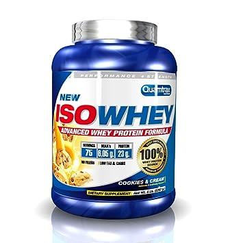 Quamtrax ISO Whey - Proteína en polvo, 2.27 kg, sabor Cookies-Cream: Amazon.es: Salud y cuidado personal