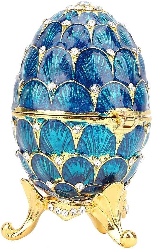 Huevo de Pascua esmaltado Mini Faberge Pintado a Mano con Esmalte ...