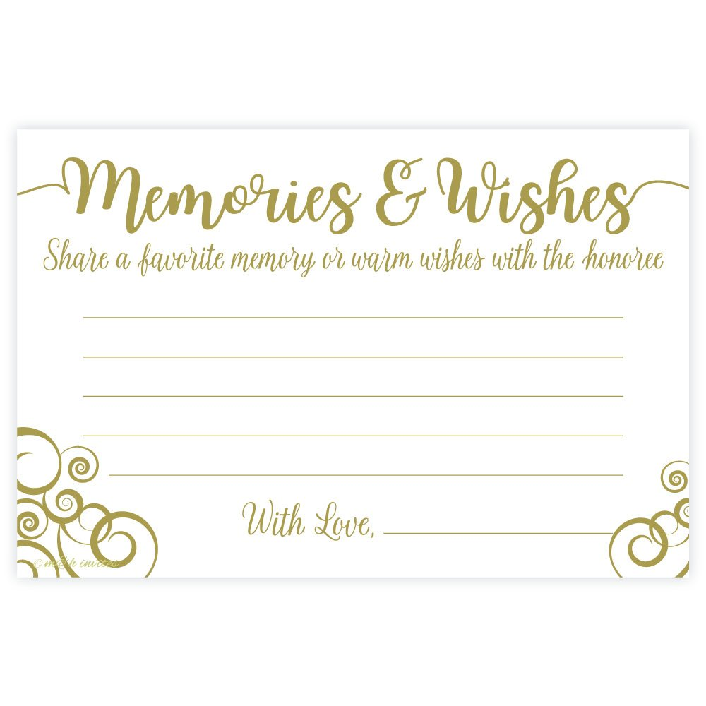 Flourish Share a Memory and Well Wishes Cards (50 Count) by m&h invites