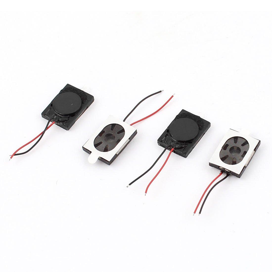 Aexit 4 Pcs 1W 8 Ohm 15x11x3.7mm Magnet Phone Computer Speaker Loudspeaker