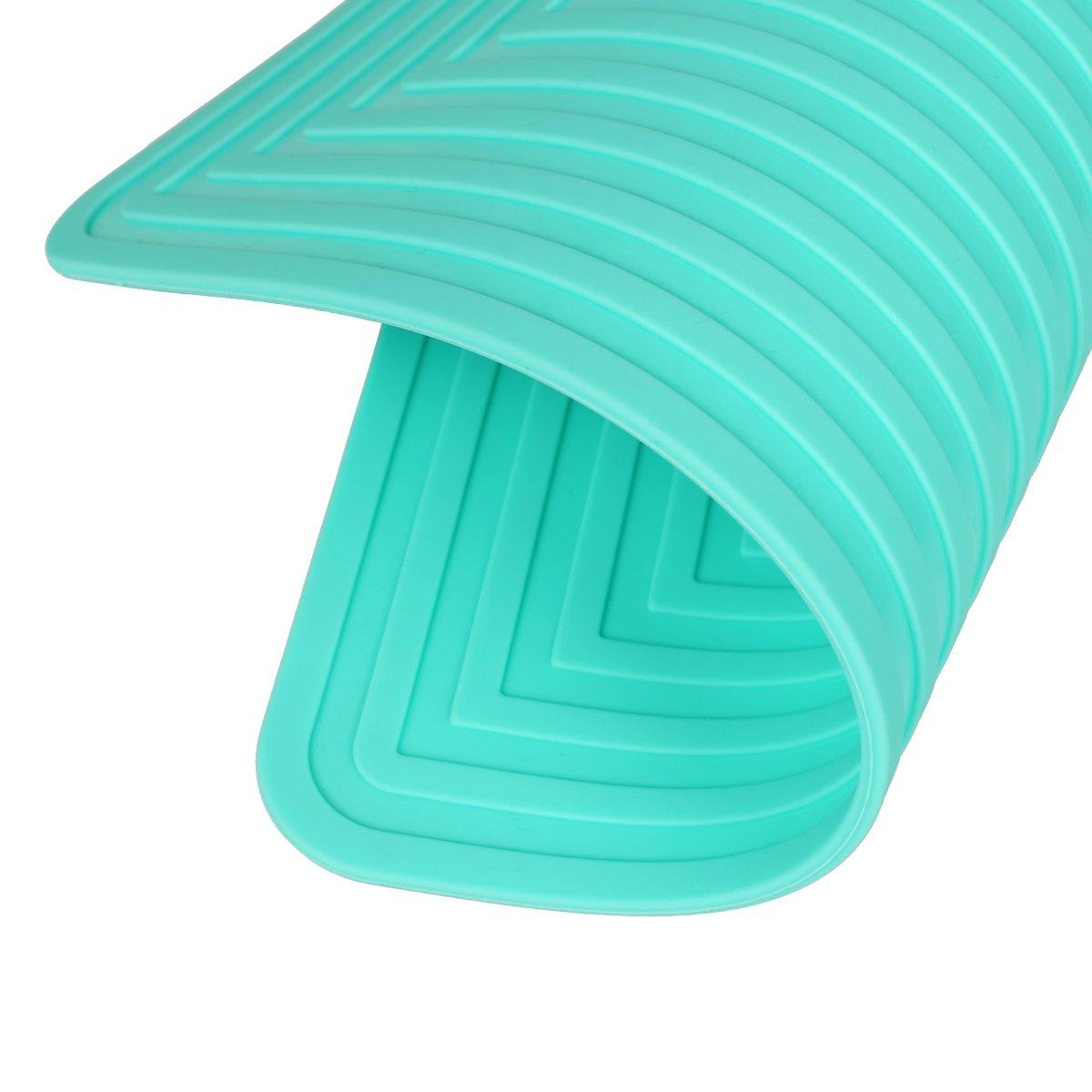 presina 22,9/x 30,5/cm antiscivolo flessibile durevole resistente al calore 2/pezzi sottopentola in silicone tappetini//Hot Pads sottopentola in cucina tovaglietta 9x 12 Purple