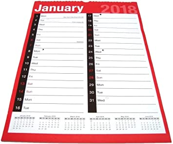 tallon 2019 easy view one month to view hanging wall calendar a3