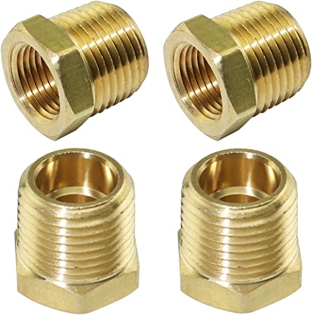 1//2 NPT Male to 1//8 NPT Female REDUCER PIPE BUSHING Hose Fitting Adapter