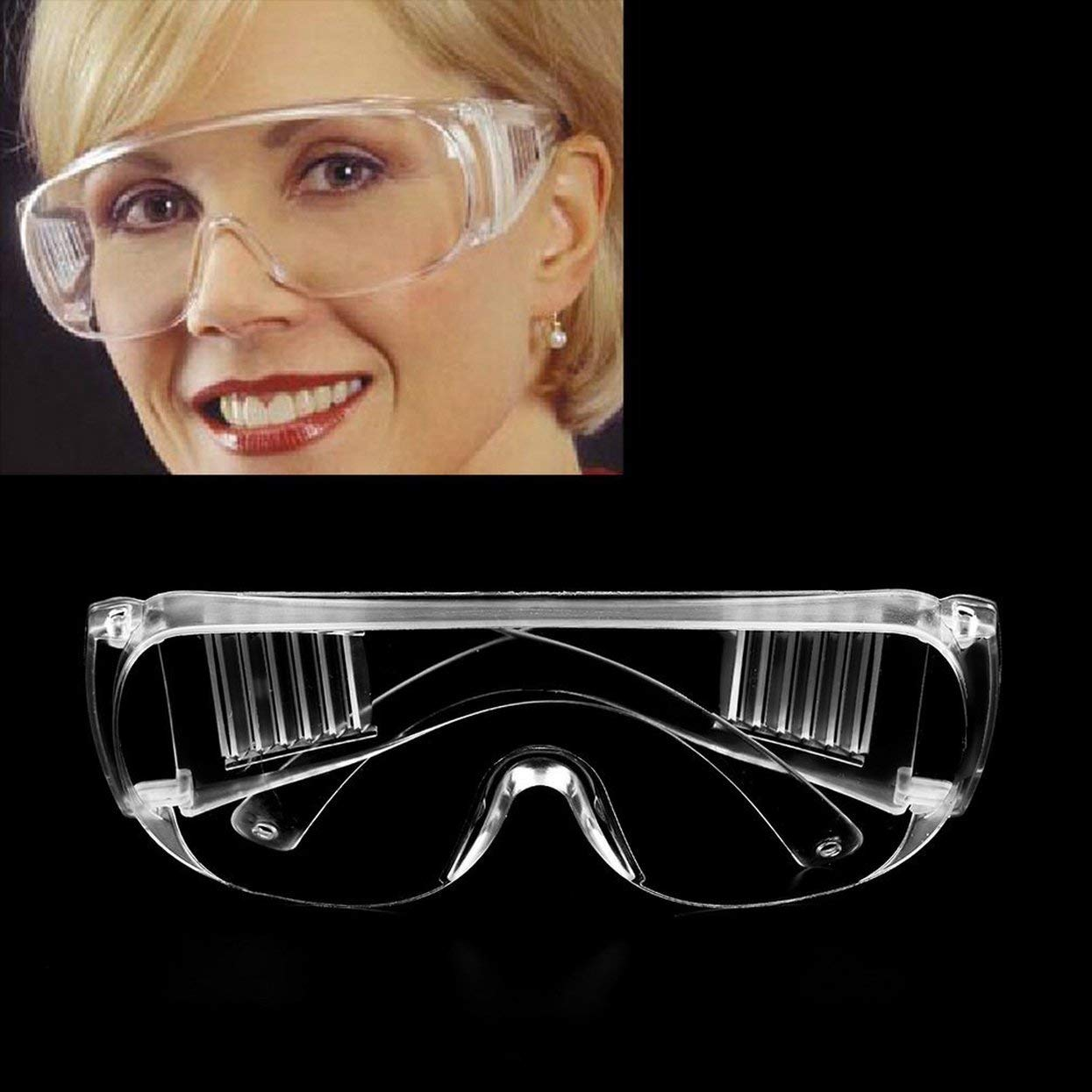 Tree-on-Life Gafas de Seguridad claras Lugar de Trabajo Ropa Protectora para los Ojos Mano de Obra Trabajar Gafas Protectoras Polvo del Viento Antivaho Uso m/édico Gafas