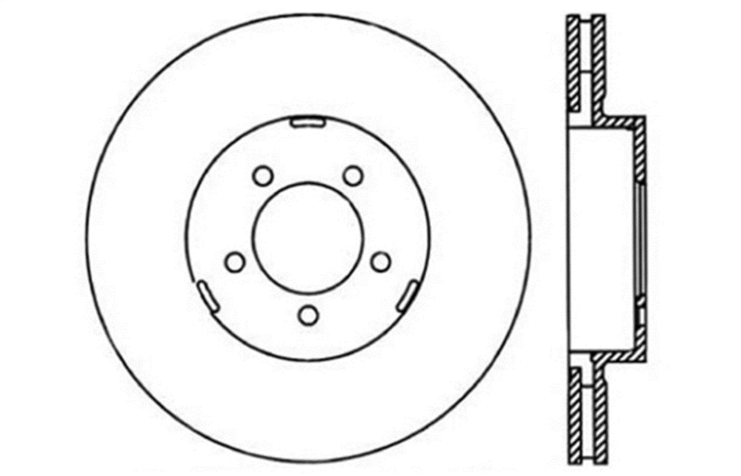 Front Left StopTech 127.65093L Sport Drilled//Slotted Brake Rotor 1 Pack