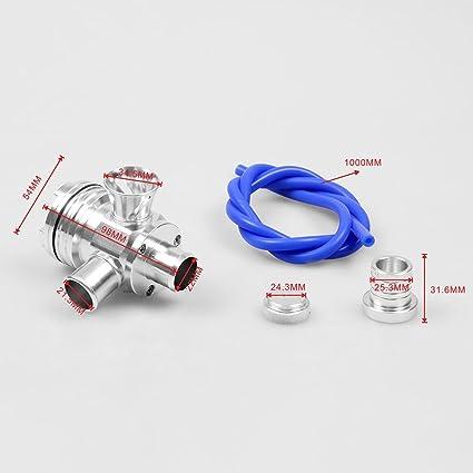 Válvula de alivio de presión para coche Volkswagen GTi Beetle Jetta Golf Audi A3 A4 A6 TT 1.8T BOV Blow Off Valve: Amazon.es: Coche y moto