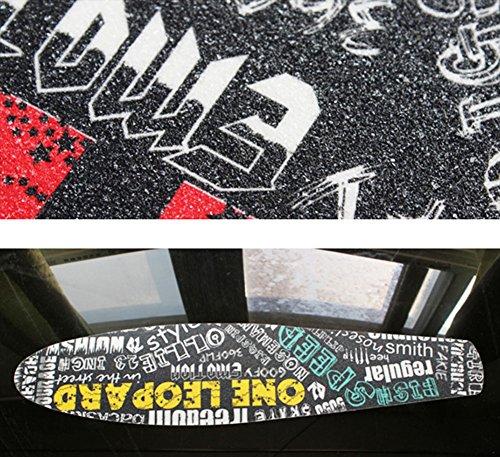 Mode étanche Équipement Skateboard Papier de verre / Sticker-lettres yellow