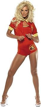Smiffys - Disfraz de vigilante de la playa para mujer, talla UK 8 ...