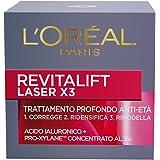 L'Oréal Paris Revitalift Laser X3 Crema Viso Antirughe Anti-Età Giorno con Acido Ialuronico e Pro-Xylane, 50 ml