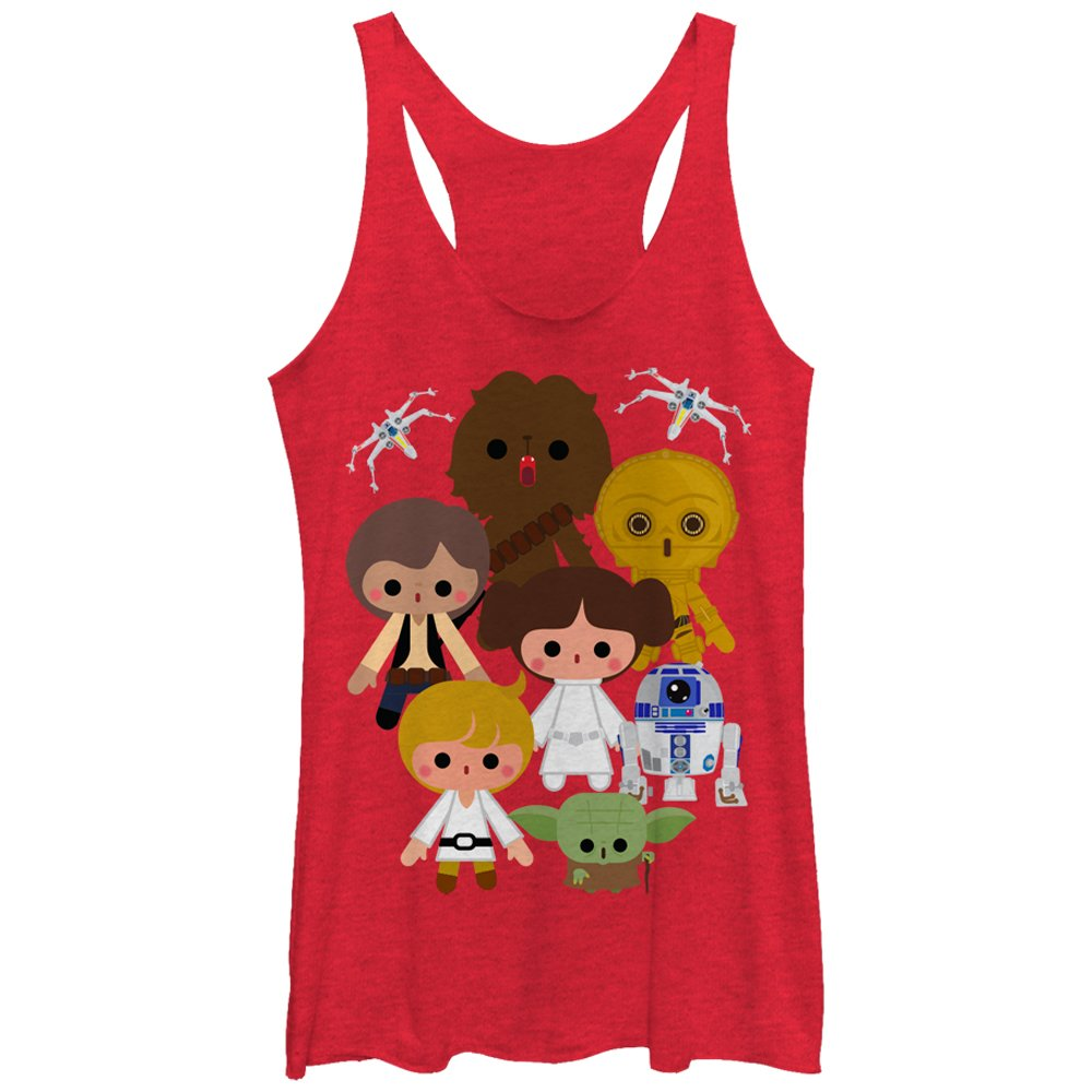 Star Wars Women's Cute Cartoon Rebels Racerback Tank Top Fifth Sun