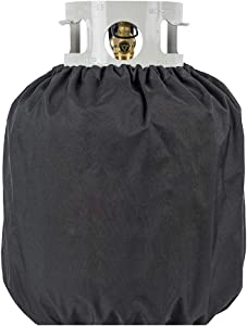 20lb Propane Tank Cover, Classic Furniture Covers for Propane Tank, Waterproof Oxford Cloth Propane Tank Cover, Veranda Patio Furniture Covers (Black)