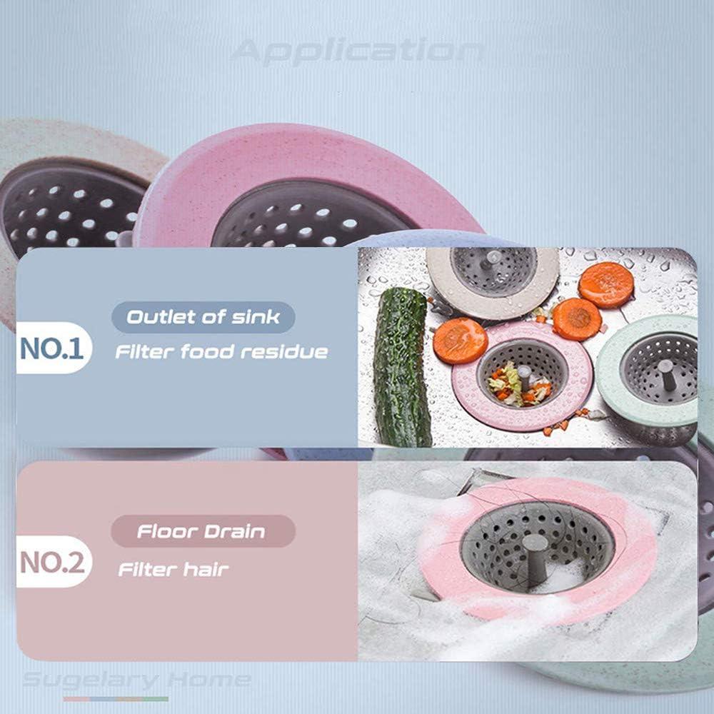 Convient /à Un /Évier De Cuisine 4 Morceaux De Filtre en Silicone d/Évier De Cuisine De Couverture De Drain Filtre d/Évier De Cuisine Emp/êche Efficacement Le Colmatage