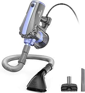 MOOSOO Handheld Vacuum, 17kpa Strong Suction Vacuum Cleaner with Pet Grooming Brush, 4 in 1 Corded Handheld Vacuum for Home