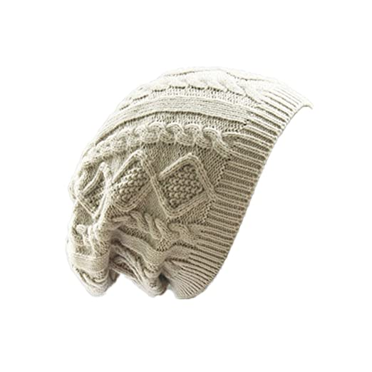 52fb08c49de053 Image Unavailable. Image not available for. Color: MIOIM Unisex Mens Womens  Knitted Wool Winter Oversized Slouchy Warm Beanie Hat Cap