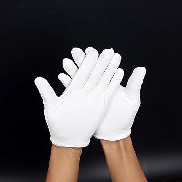 c8ad32d3a048 Gants En Coton Blanc  Non Pelucheux Pour Les Fanfares, Les Tenues De  Cérémonie Ou