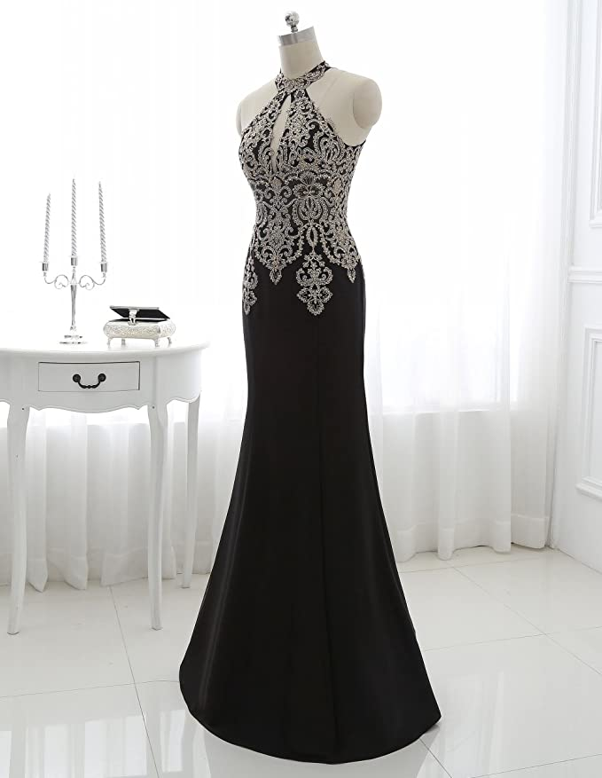 Amazon.com: King\'s Love Women\'s Rhinestone Mermaid Evening Dresses ...