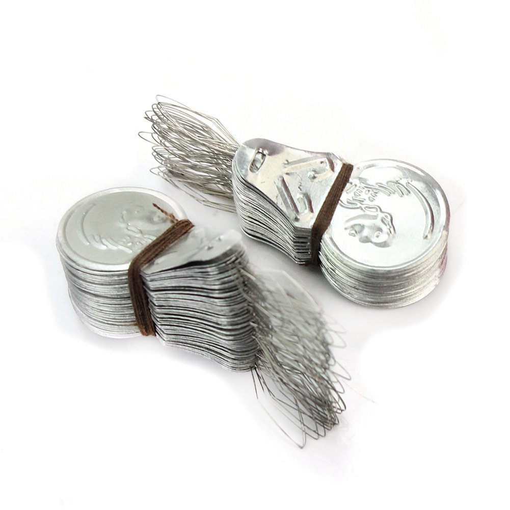300x Silver Tone Wire Loop DIY Needle Threader Stitch Insertion Hand Machine Sewing Tool Quilting Craft Hibeauty