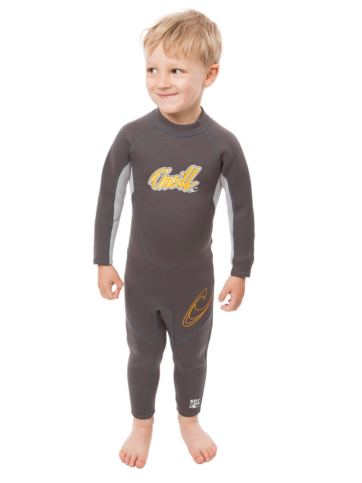 O'Neill Reactor Toddler Full Wetsuit Youth 1 Graphite/Cool Grey/Orange (4629B) by O'Neill Wetsuits