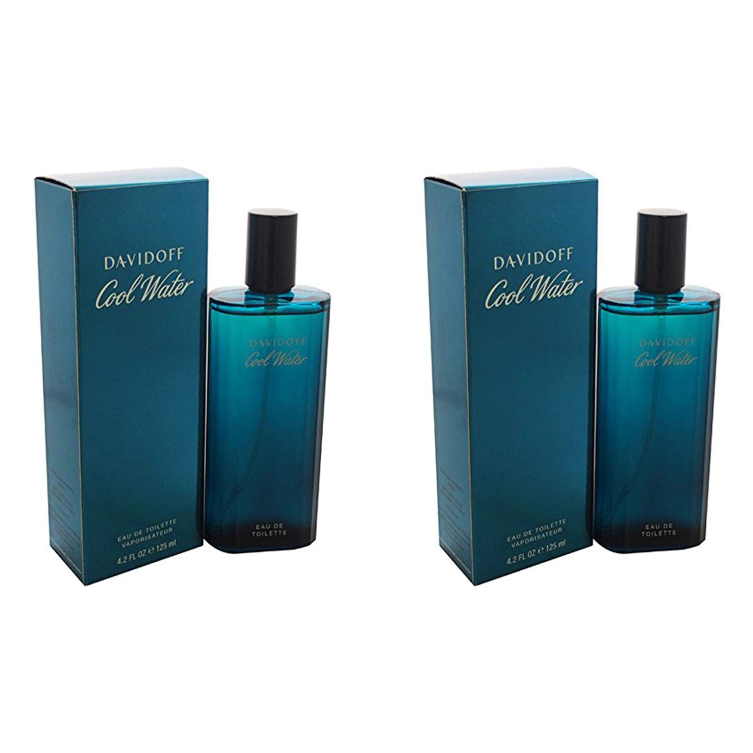 Davidoff Cool Water for Men. Eau De Toilette Spray 4.2 Ounces - 2 Pack