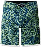 Volcom Little Boys' Logo Plasm Mod 13.5'' Adjustable Waist Boardshort, Strobe Green, 6