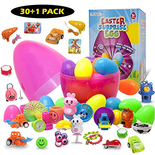 PUSITI Easter Egg Toys Surprise Eggs with Toys