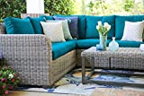 Leisure Made Forsyth 5 Piece Outdoor Sectional, Peacock Fabric