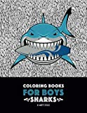 pokemon coloring pages - Coloring Books For Boys: Sharks: Advanced Coloring Pages for Tweens, Older Kids & Boys, Geometric Designs & Patterns, Underwater Ocean Theme, Surfing ... Practice for Stress Relief & Relaxation