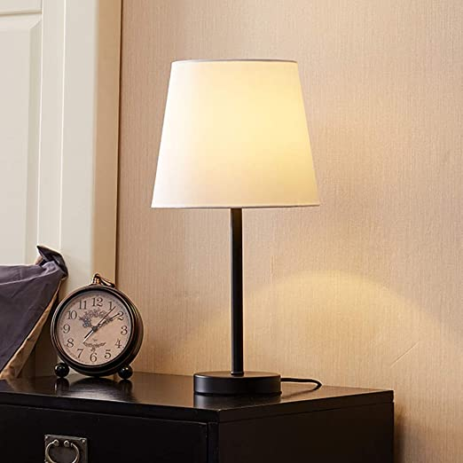 Zenghh Lámpara de Mesa Contemporáneo Sencillez Recta Base lámpara ...