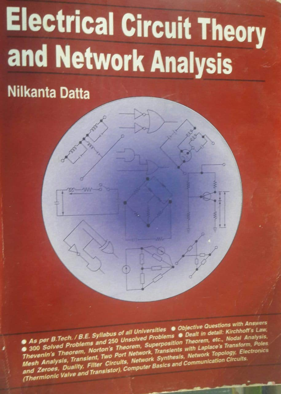 Buy Electrical Circuit Theory And Network Analysis Book Online At Nodal Low Prices In India Reviews Ratings