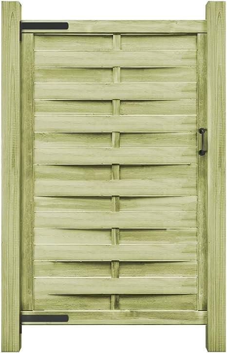 ghuanton Puerta de Valla Madera de Pino impregnada FSC 100x200 cm verdeBricolaje Vallas de jardín Puertas de jardín: Amazon.es: Hogar