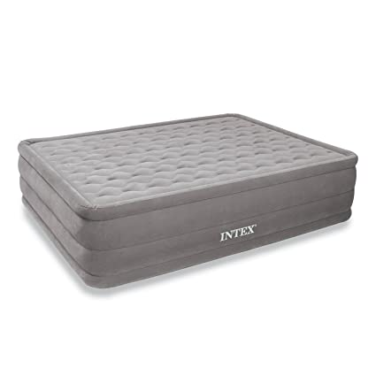 Amazon Com Intex Ultra Plush Airbed With Built In Electric Pump
