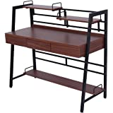 Tangkula Computer Desk Writing Table with Drawer Home Office Workstation