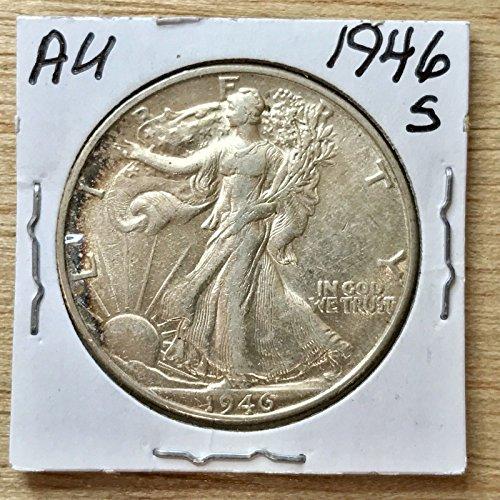 Genuine ~AU 1946 S Walking Liberty Half-Dollar 90% Silver (L231)