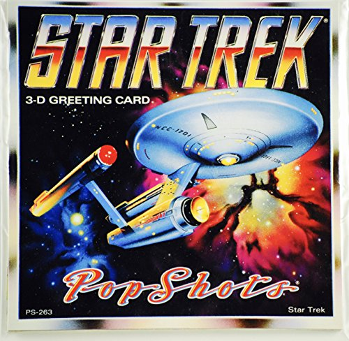 POP SHOTS- Star Trek the Original Series 3D Greeting Card -