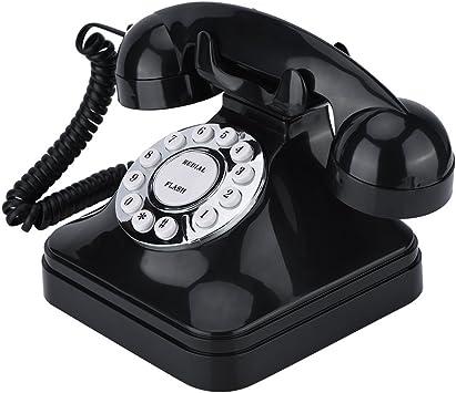 Teléfono Retro Vintage, WX-3011 Teléfono Fijo Alámbrico de Multifunción, Telefonía Doméstica Fija con Cable, Teléfono Vintage de Moda con Base Antideslizante para Hogar Casa Oficina Hotel Motel etc.: Amazon.es: Electrónica