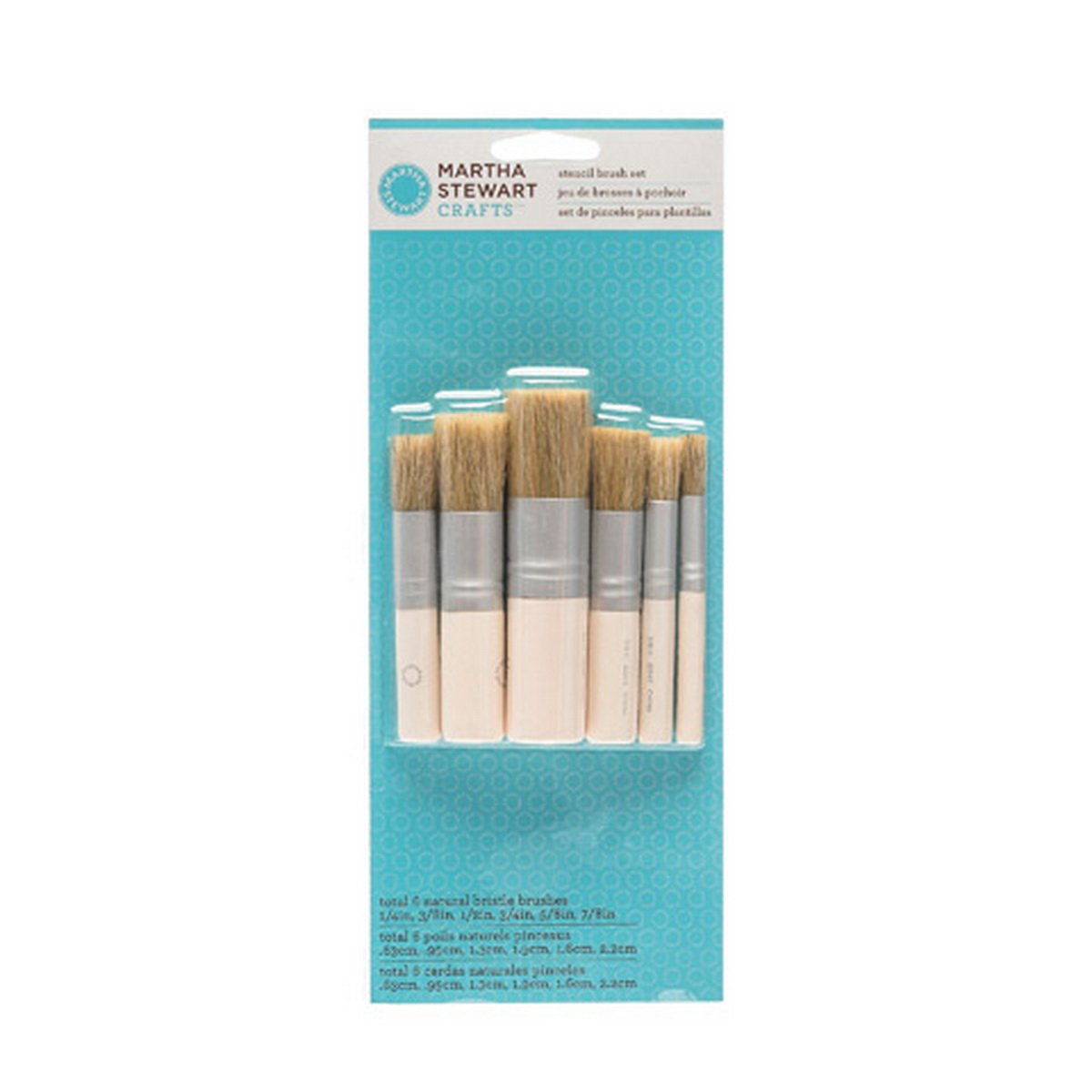Martha Stewart Crafts Stencil Brush Set: 6 Pieces - 10033377 by Martha Stewart Crafts