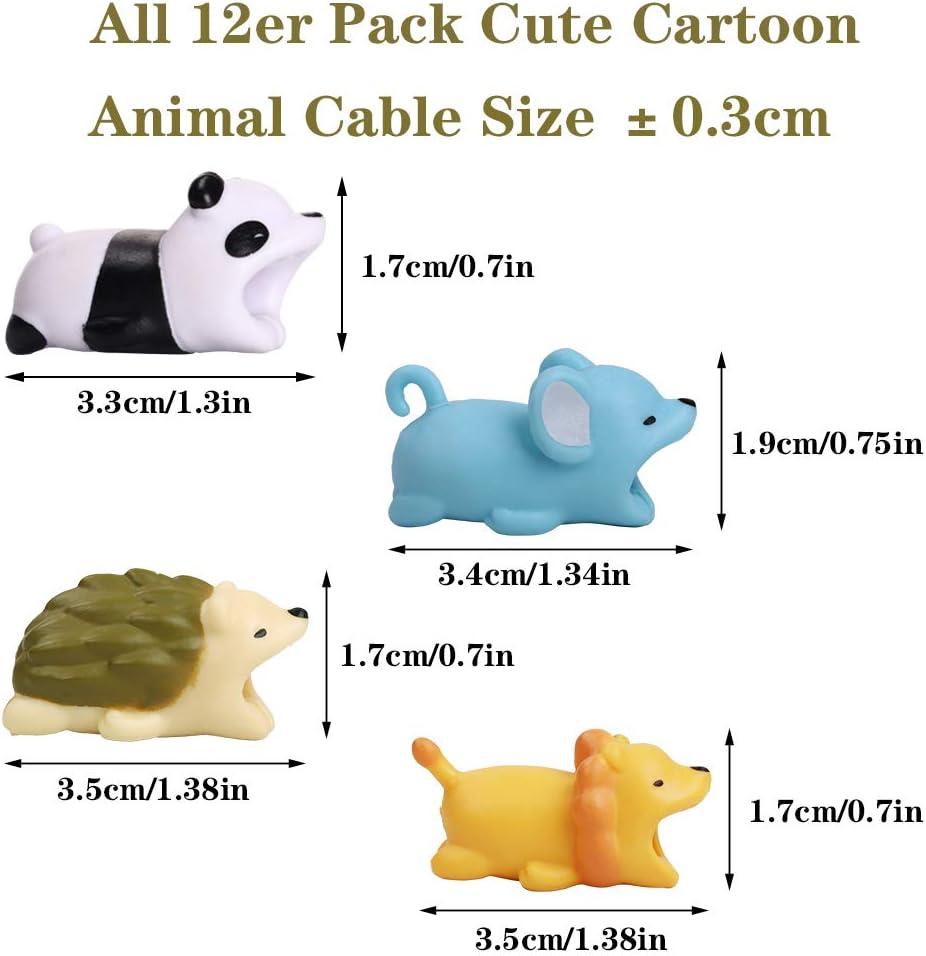 YMHPRIDE 12 Pack Cute Cartoon Animal Cable Protector, previene la ...