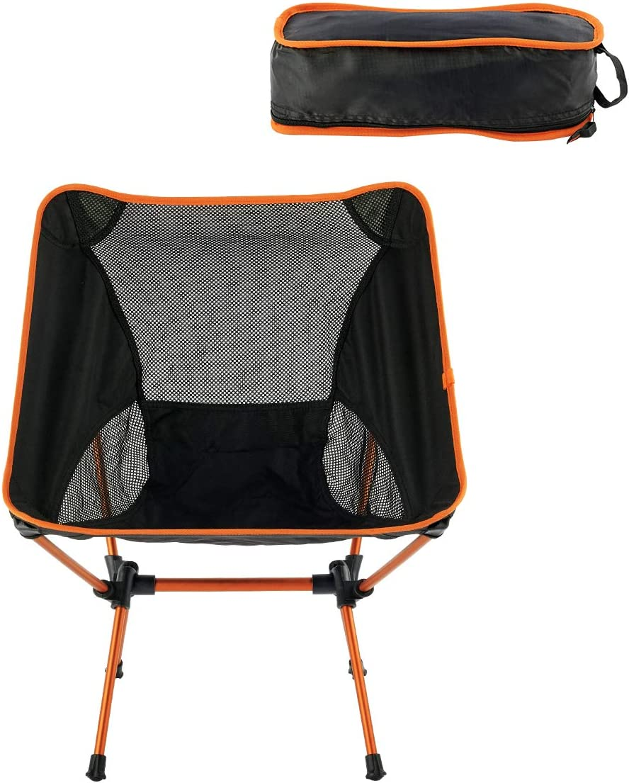 Eat-Camp Camping Chair Portable Compact Backpacking Chair Folding Chairs with Lightweight Carry Bag for Outdoor, Camp, Picnic, Hiking