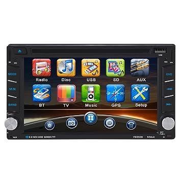 ieGeek coche GPS Navigator/estéreo reproductor mp5 con Bluetooth y cámara de visión trasera y DVD (pantalla de 6.2), en Dash, 2 Din): Amazon.es: Electrónica