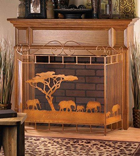 Wild Savannah Fireplace Screen (Panel Savannah Screen)