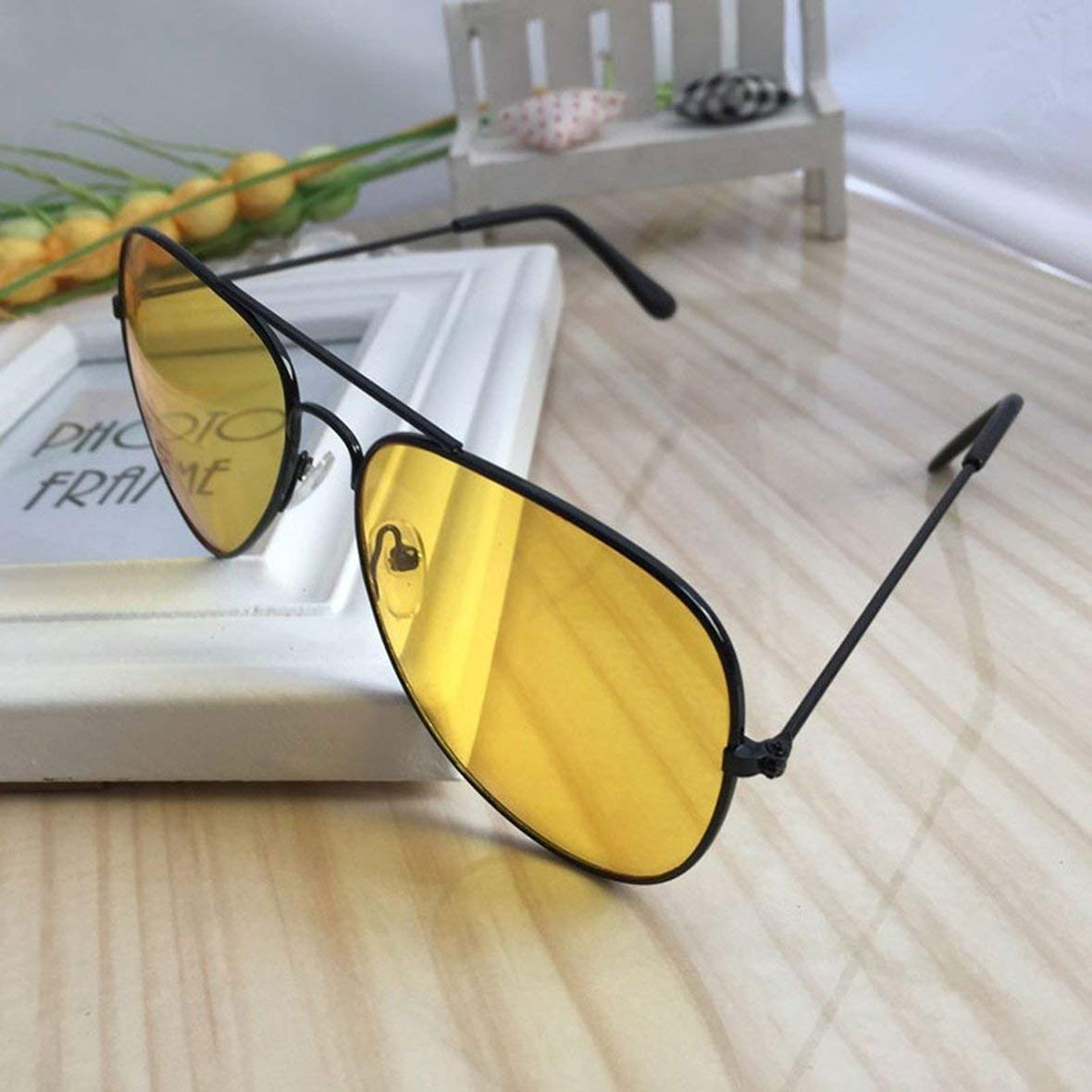 Gafas de sol de visi/ón nocturna de Heaviesk Gafas antirreflejos UV Sight Night Sight HD Gafas de protecci/ón antirreflejos UV400