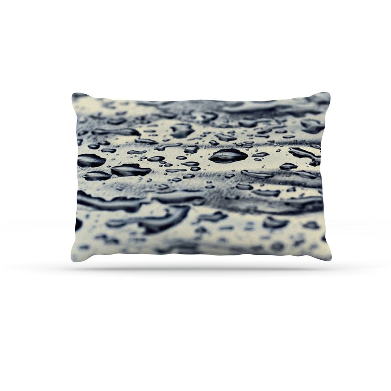 Kess InHouse Ingrid Beddoes bluee Ice  Raindrops Fleece Dog Bed, 30 by 40