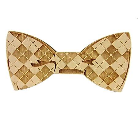 Corbata de lazo de madera para hombre Corbatas Matts Patrón ...