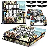 PS4 Grand Theft Auto 5 Waterproof Vinyl Skin Decal Cover for Playstation 4 System Console and Controllers