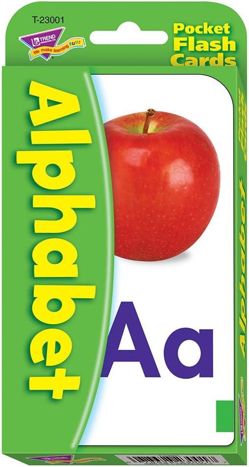 Amazon Com Trend Enterprises Inc Alphabet Pocket Flash Cards Practice For Home Travel School Toys Games