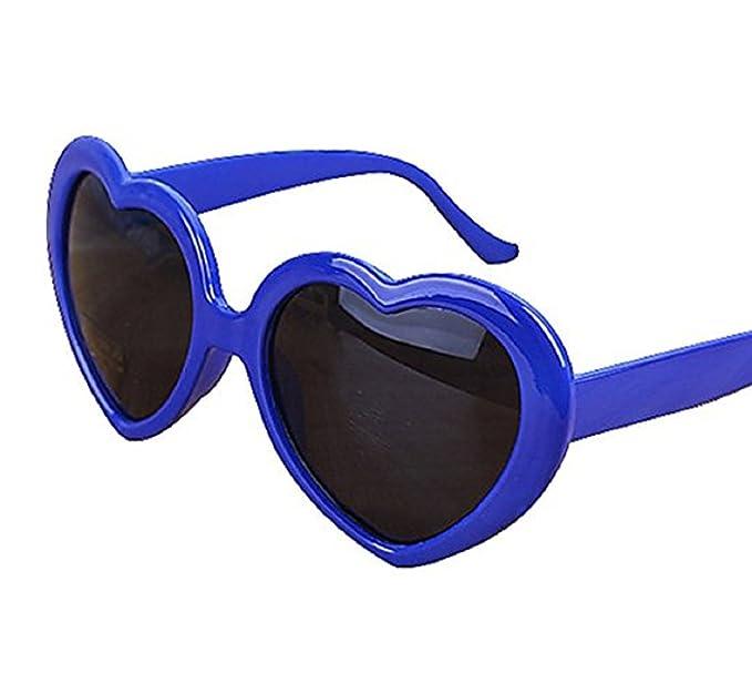 (Azul) Gafas de sol - Corazón - Mujer - Polarizado Uv400 -: Amazon.es: Ropa y accesorios